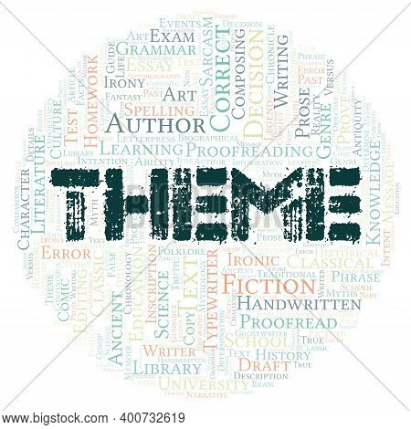 Theme Typography Word Cloud Create With Text Only