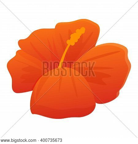 Ocean Hibiscus Icon. Cartoon Of Ocean Hibiscus Vector Icon For Web Design Isolated On White Backgrou