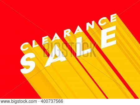 Clearance Sale Poster Or Flyer Design. Clearance Online Sale Banner Template.