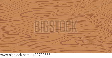 Wood Texture. Brown Wooden Plank, Cutting Board, Floor Or Table Surface. Striped Fiber Textured Back