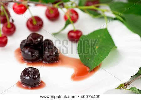 sour cherries in syrup