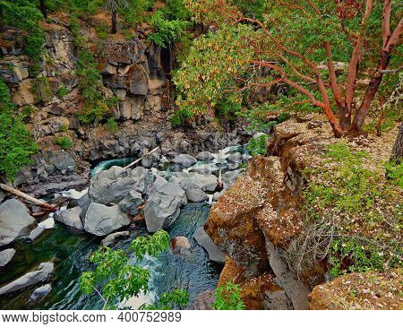 Gorge View - A Canyon Scene Along The Rogue River - Near Prospect, Or