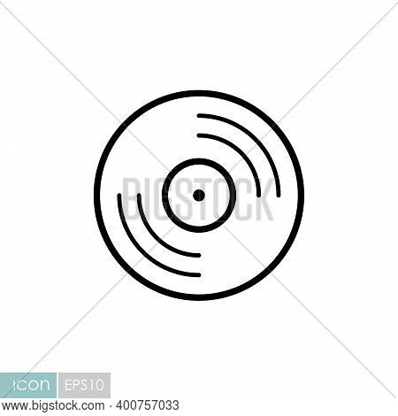 Vinyl Record, Lp Record Vector Icon. Music Sign. Graph Symbol For Music And Sound Web Site And Apps