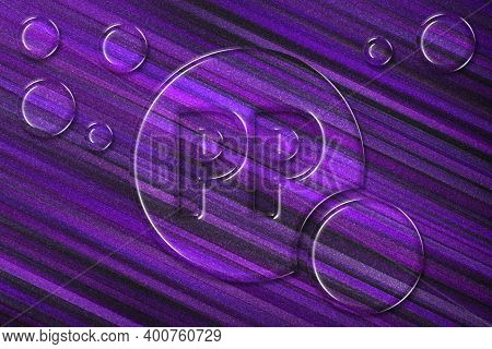 Vitamin Pp Health Symbol, Vitamin Concept, Niacin, Violet Background