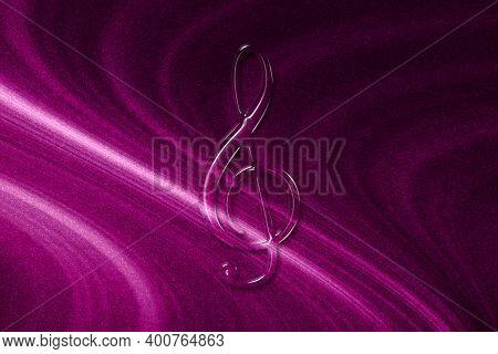 Treble Clef, Music Clef Sign, Treble Clef Symbol, Magenta Background