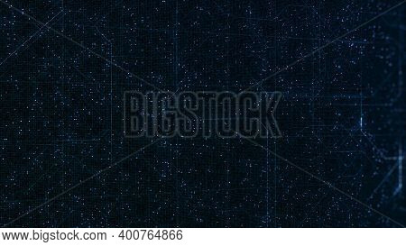 Beautiful Background With Lines Of Technological Scheme. Animation. Technological Background With Mo
