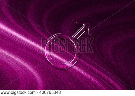Symbol Of Mars, Mars Sign, Astrology Mars Planet, Magenta Background