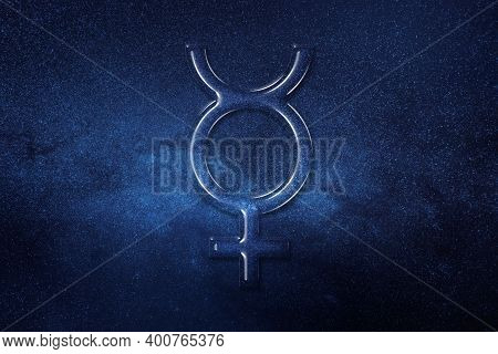Symbol Of Pluto, Pluto Sign, Astrology Pluto Planet, Space Background