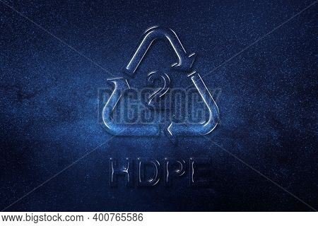 Hdpe, Plastic Recycling Symbol Hdpe 2, Space Background
