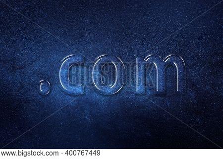 Domain Concept, Dot Com, Dotcom, Registration, Online Identity, Website, Space Background