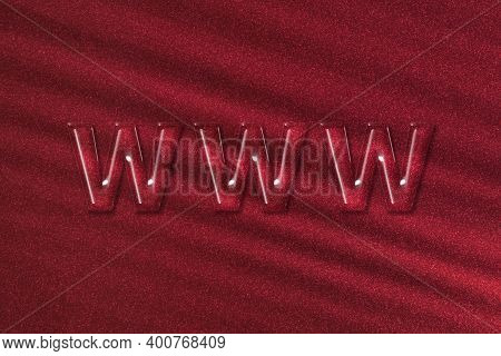 Www Web Site, Internet Http Address Www, Red Background