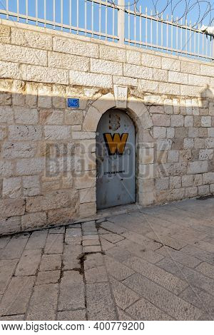 Bethlehem, Israel, December 09, 2020 : The Side Entrance To The Church Of Nativity In The City Of Be