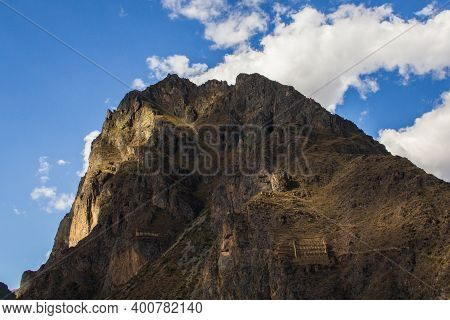 The Ollantaytambo Sanctuary, Located In The Sacred Valley Region In Peru's Andean Highlands, Is Clea