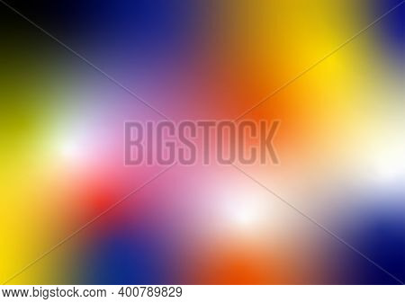 Abstract Background With Sofft Multi Colour Of Yellow, Blue, Orange, Pink, Red, Green , Purple And B