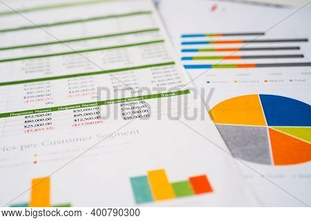 Spreadsheet Table Paper. Finance Development, Banking Account, Statistics Investment Analytic Resear