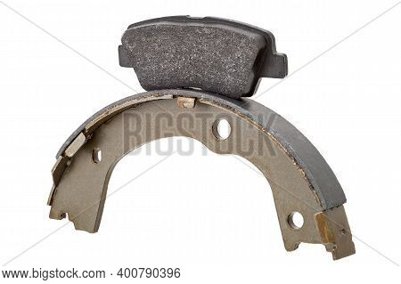 Two Kinds Asbestos Brake Pads For Disc Brakes And Shoe For Drum Brakes, Replacement Spare Parts Of T