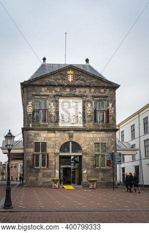 Gouda, Netherlands, November 2018 - The Weigh House In The City Of Gouda, Netherlands