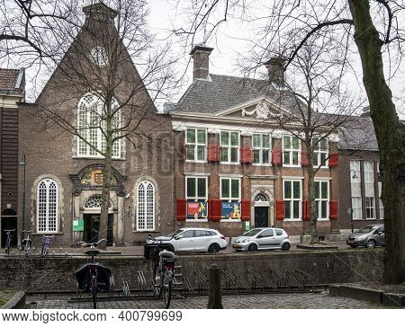 Gouda, Netherlands, November 2018 - Entrance To A Museum In The City Of Gouda, Netherlands