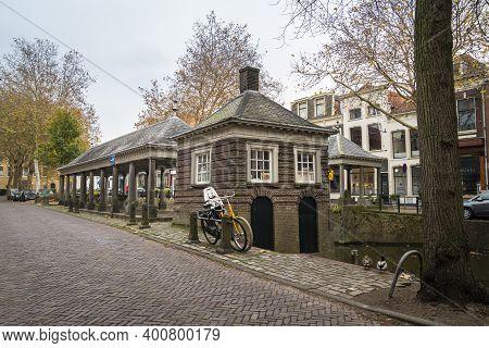 Gouda, Netherlands, November 2018 - The Historical Fish Market In The City Of Gouda, Netherlands