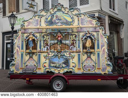 Gouda, Netherlands, November 2018 - A Dutch Street Organ In The City Of Gouda, Netherlands