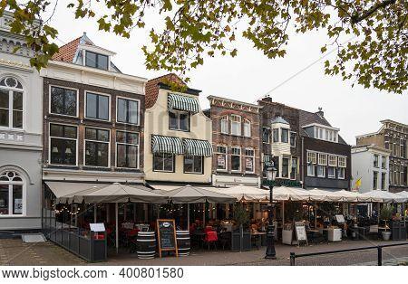 Gouda, Netherlands, November 2018 - Bars And Restaurants In The City Of Gouda, Netherlands