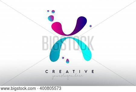 H, H, Blue, Purple, Colorful, Bubble, Gum, Bubble Gum, Fluid, Rainbow, Typography, Logo, Concept, Ve