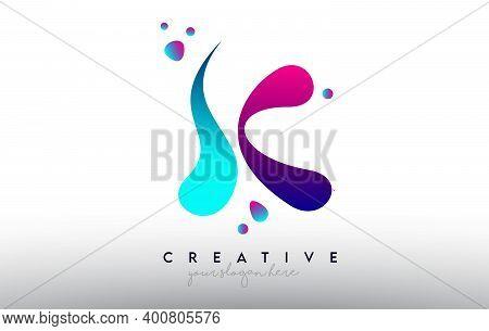 K, K, Blue, Purple, Colorful, Bubble, Gum, Bubble Gum, Fluid, Rainbow, Typography, Logo, Concept, Ve