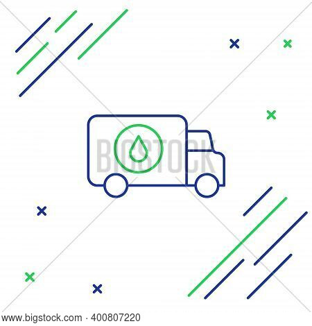 Line Plumber Service Car Icon Isolated On White Background. Colorful Outline Concept. Vector