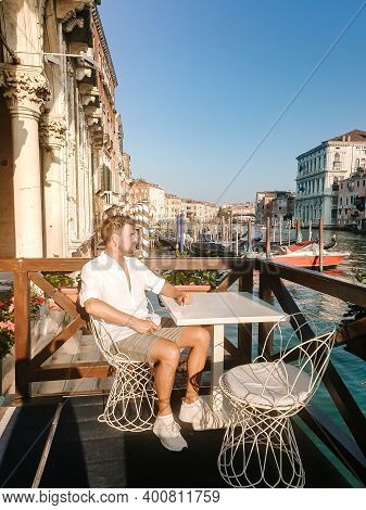 Italy Venice, Almost Empty City Of Venice During Summer 2020 With The Covid 19 Pandemic Surge In Ita