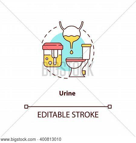 Urine Concept Icon. Lab Sample Idea Thin Line Illustration. Urinalysis Testing. Specimen Urine. Ster