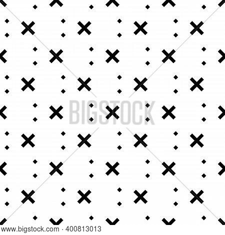 Seamless Pattern. Checks, Figures Ornament. Squares, Crosses. Ethnic Motif. Geometric Background. Rh