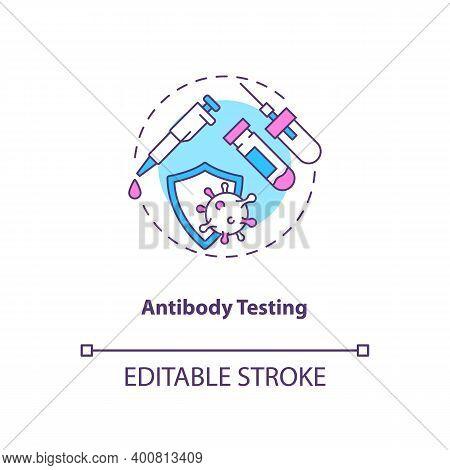Antibody Testing Concept Icon. Covid Testing Type Idea Thin Line Illustration. Checking For Antibodi