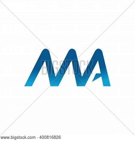 Initial Ma Letter Logo Vector Template. Abstract Letter Ma Logo Design. Minimalist Linked Letter Tre