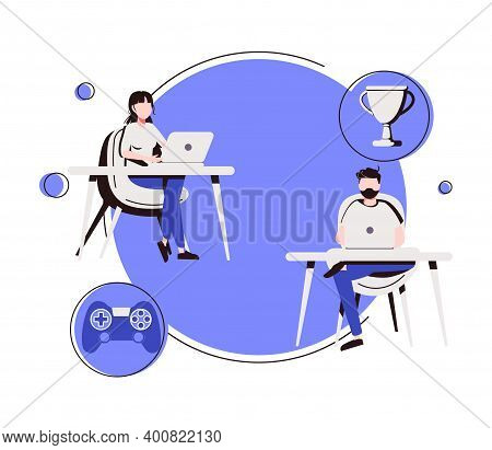 E-sport Tournament Abstract Concept Vector Illustration. Esports Tournament Streaming, Game Official