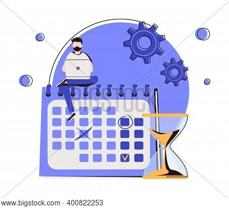 Deadline Abstract Concept Vector Illustration. Project Management, Work Time Limit, Task Due Dates,