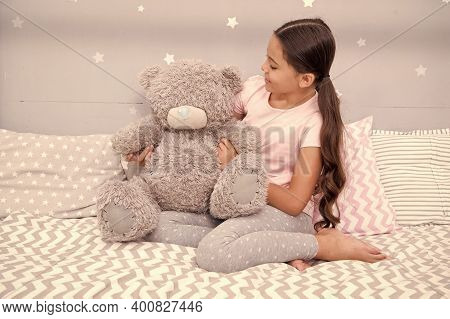 Developing Social And Emotional Skills. Little Girl Play With Toy In Nursery. Childhood Friend. Play