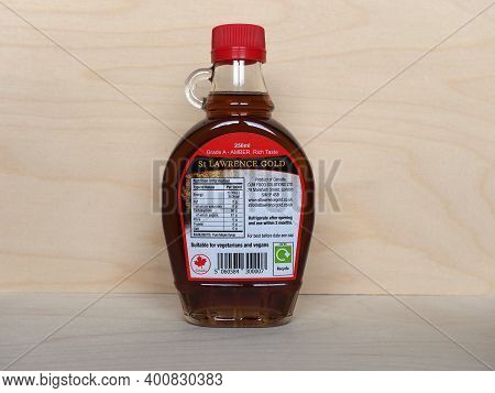 Bottle Of St Lawrence Gold Pure Canadian Maple Syrup