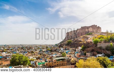 Distant View Of Mehrangarh Fort, Jodhpur, Rajasthan