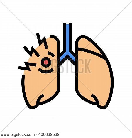Asthma Of Children Color Icon Vector. Asthma Of Children Sign. Isolated Symbol Illustration