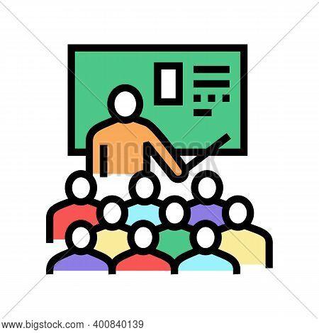 Teacher Educational Lesson Color Icon Vector. Teacher Educational Lesson Sign. Isolated Symbol Illus