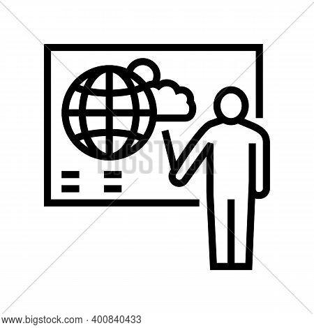 Weather Forecast Line Icon Vector. Weather Forecast Sign. Isolated Contour Symbol Black Illustration
