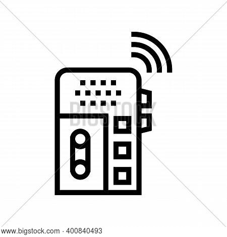 Dictaphone, Voice Recorder Gadget Line Icon Vector. Dictaphone, Voice Recorder Gadget Sign. Isolated