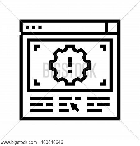 Wronge Internet Settings Line Icon Vector. Wronge Internet Settings Sign. Isolated Contour Symbol Bl
