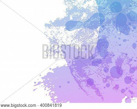 Sale Banner Brushstroke. Gradient Paintbrush. Vector Brush Stroke. Isolated Splash On White Backdrop