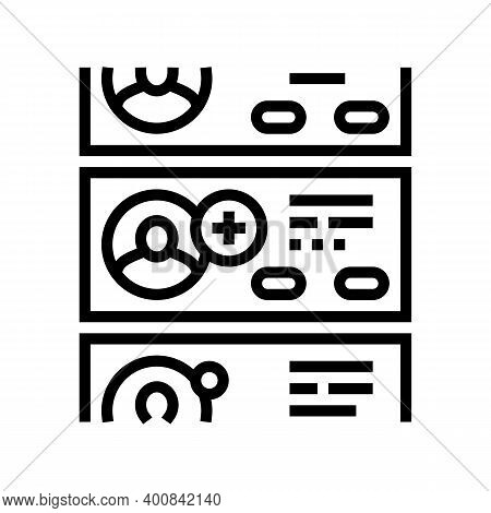 List Of Prospective Friends Line Icon Vector. List Of Prospective Friends Sign. Isolated Contour Sym