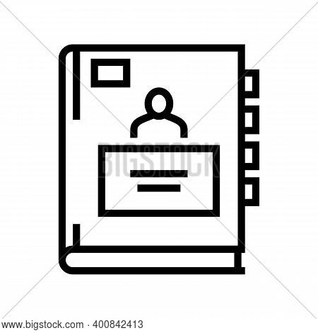 Pupil Notebook Line Icon Vector. Pupil Notebook Sign. Isolated Contour Symbol Black Illustration