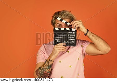 Actor Casting. Shooting Scene. Favorite Series. Cinema Production. Creative Producer. Bearded Man Ho