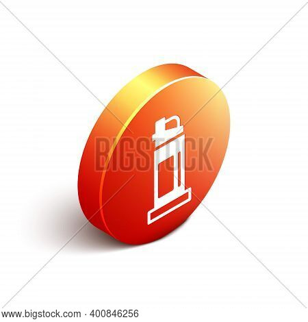 Isometric Pepper Spray Icon Isolated On White Background. Oc Gas. Capsicum Self Defense Aerosol. Ora