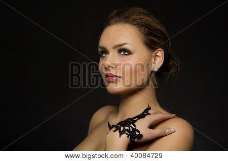 Beautiful Pensive Elegant Woman