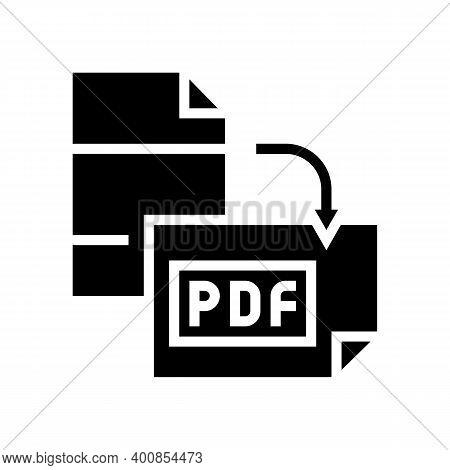 Orientation Pdf File Glyph Icon Vector. Orientation Pdf File Sign. Isolated Contour Symbol Black Ill